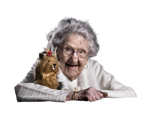 granny and doggy